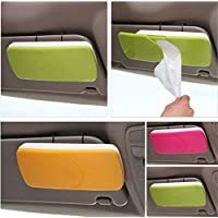 SNAPCOM Auto Accessories Car Sun Visor Box Paper Napkin Holder with Tissue