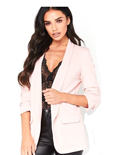 Frill Nude 4 Jacket Women Ruffle Hari 8 Zaif 3 amp; Duster Sleeve New Open 26 Coat Size Front Blazer Girls Ladies vwAR0qA