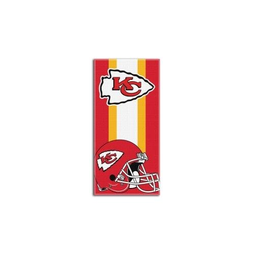 City Chiefs Towel Beach Kansas (Amirshay, Inc. Kansas City Chiefs NFL Zone Read Cotton Beach Towel (30in x 60in) (2-Pack))