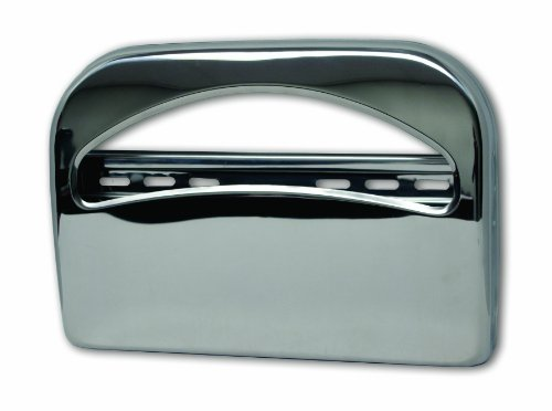 Palmer Fixture TS0142-11 1/2 Fold Toilet Seat Cover Dispenser, Brushed Chrome by Palmer Fixture