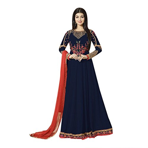 blue anarkali dress - 4