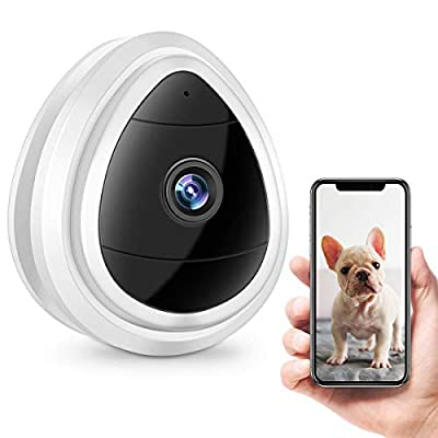 Home Security Camera, WiFi Wireless Security Smart IP Camera Surveillance System Remote Monitoring with Motion Email Alert/Remote Monitoring for Pet Baby Elder Pet Nanny Monitor, (White)