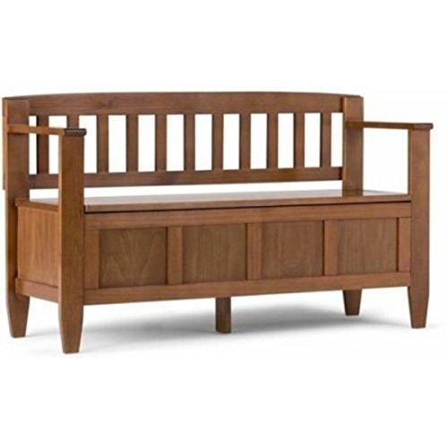 Mies Bench (Brooklyn + Max Fairfield Entryway Furniture Storage Bench (Medium Saddle Brown) )