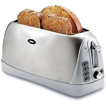 Amazon.com: Oster TSSTTR6330-NP 4 Slice Long Slot Toaster ... | {Toaster 54}