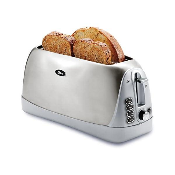 Oster Long Slot 4-Slice Toaster, Stainless Steel (TSSTTR6330-NP) 1
