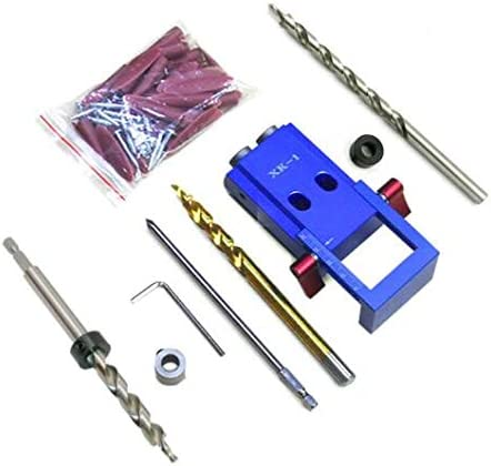 ミニKregスタイルポケット穴ジグキットシステム用木工&建具やステップドリルビット&アクセサリー木工ツール,C