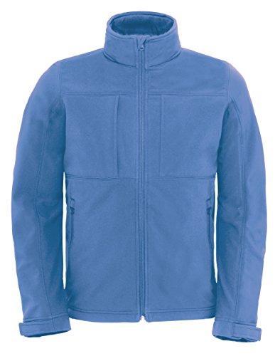 B&C Softshell Hooded Jacket Men BCJM950 / Farbe: Azure /Größe: M