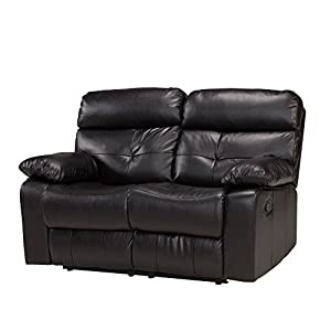 Primo International Discovery Contemporary Motion Reclining Love Seat, Dark Brown