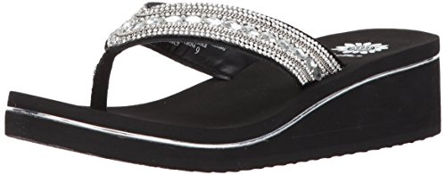 (Yellow Box Women's Marcy Sandal, Clear, 6.5 Medium US)