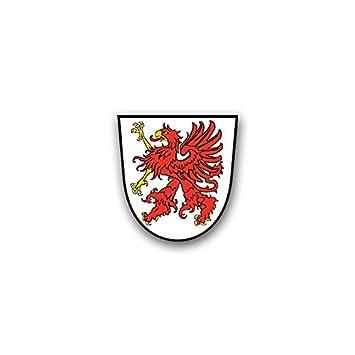 Aufkleber Sticker Pommern Greif Pomorze Herzogtum Wappen