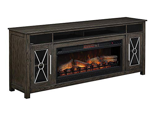 Heathrow Infrared Electric Fireplace Entertainment Center in Tifton Oak - ()