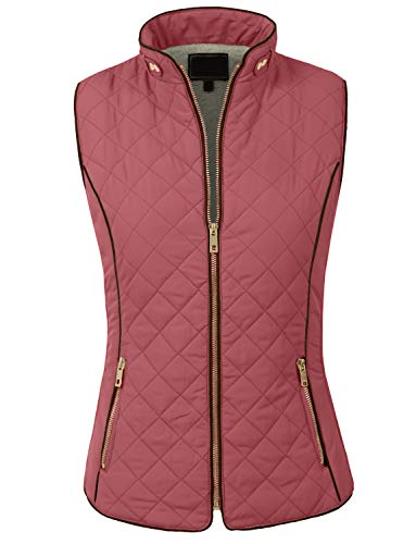 NE PEOPLE Womens Lightweight Quilted Zip Up Stand Collar Padded Vest S-3XL from NE PEOPLE