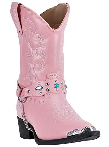 Concho Western Boots - Laredo Girl's, Little Concho Western Boots Pink 3 M