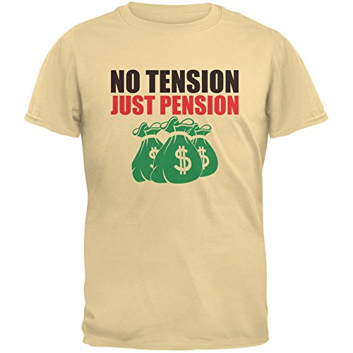Old Glory Retirement No Tension Just Pension Yellow Haze Adult T-Shirt - Large