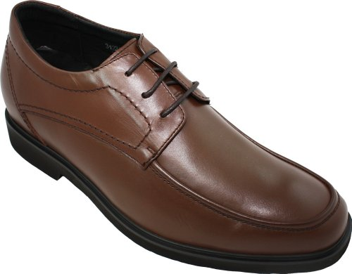 Free CALDEN - K312317 - 2.6 Inches Taller - Height Increasing Shoes for Men-Brown Leather Super Lightweight