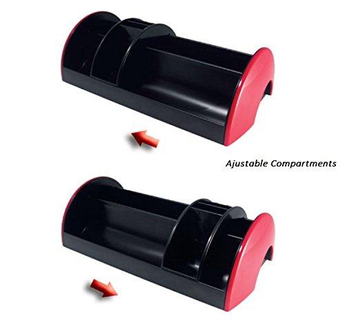 Ruler Eraser with Stationery Set 30x16x9 cm Clips Included Scissors Exerz Desk Organiser//Stationery Organizer//Pen Holder//Desk Tidy Stapler EX895A - Grey Staples Pens