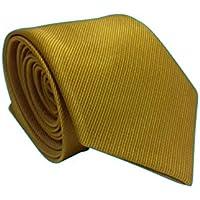 Gravata Slim Trabalhada Xadrez Importada Amarela Riscada