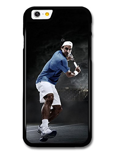 Roger Federer Playing Blue & Black Tennis Player hülle für iPhone 6 6S