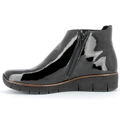 Bottines Au 36 Rieker Montantes Femme 73771 00 41 Bottes Chaussures Schwarz ZcgYgqB7a