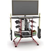 Atlantic Red Centipede Game Storage and 37' TV Stand