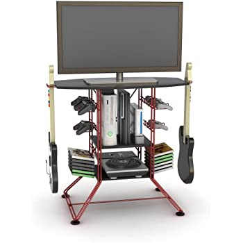 Amazon Com Tv Video Game Stand Gaming Storage Rack Hub Console For