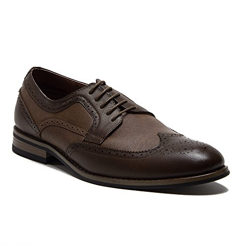 Ferro Aldo Mens 19567L Wing Tip Brogue Blucher Oxford Dress Shoes Brown NAylsciwq