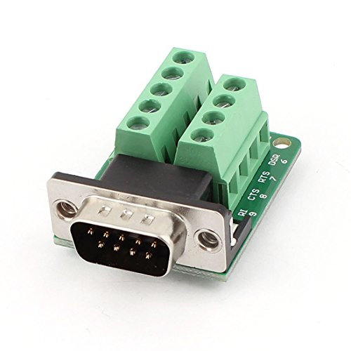 DB9 D-SUB 9 Pin Male Adapter RS232 to Terminal Connector Signal (Db9 Pin Connector)