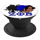 Zeta Phi Sorority Beta Paraphernalia Gift for Finer Sister - PopSockets Grip and Stand for Phones and Tablets