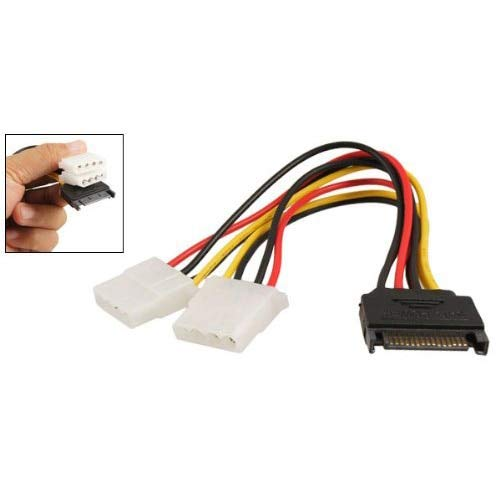 Black Sata 15 Pin Male to Female 4 Pin IDE Adapter Power Cable Cord Gimax Hot Sale Sale