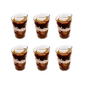 Prexware plastic clear twirl dessert for Mini dessert recipes in shot glasses uk