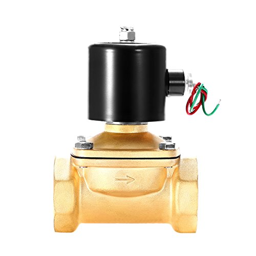 Air Water Gas - Geindus Electric Solenoid Valve 2 Inch Normally Closed Solenoid Valve Semi-Direct Lift Brass Normally Closed Electric Solenoid Valve For Water Air Gas