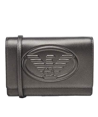 Pewter Shoulder Women's Armani Bag Emporio Pewter Logo fOaYqnxWWg