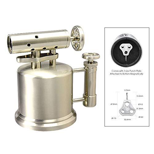 VECTOR KGM Quad Pump Table Top Quad Torch Lighter (Nickel Satin)