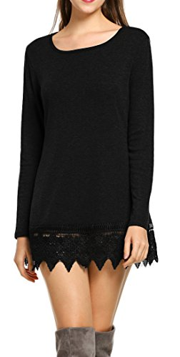POGTMM Womens Sleeve Stitching Casual
