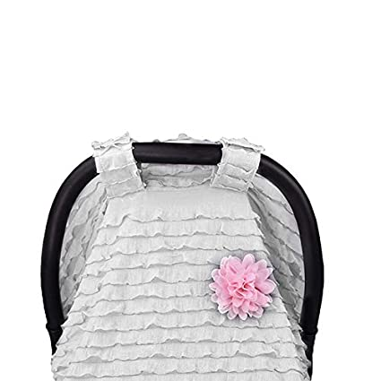 Carseat Canopy Cover,Unisex Lightweight Breathable Cotton Muslin Canopy Baby Car Seat Cover Infant Stroller Cover for Baby Girls and Boys