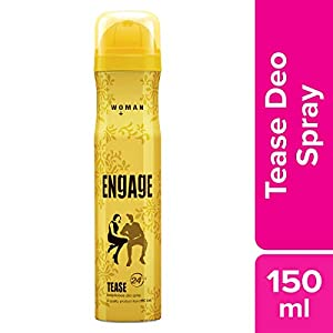 Engage Tease Deodorant For Women, Citrus and Floral, Skin Friendly, 150 ml