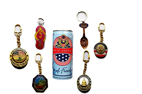 Keychain Souvenir Bundle Premium Wahington DC 7 pack with a unique - Usps Priority Time Delivery