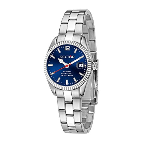 SECTOR Women's 245 Analog-Quartz Stainless-Steel Strap, Silver, 18 Casual Watch (Model: R3253486508