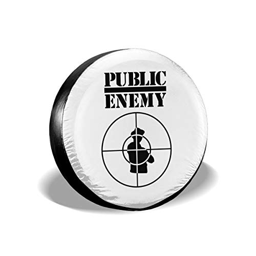 KLSOAD Spare Tire Cover, Public Enemy Logo Waterproof Rear Tire Cover Dust-Proof Wheel Covers for Camper RV Scamp Trailer ()