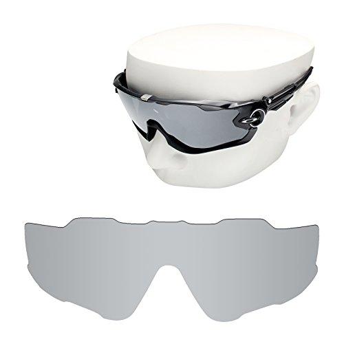 OOWLIT Replacement Sunglass Lenses for Oakley Jawbreaker Silver Mirror - Lenses Jawbreaker
