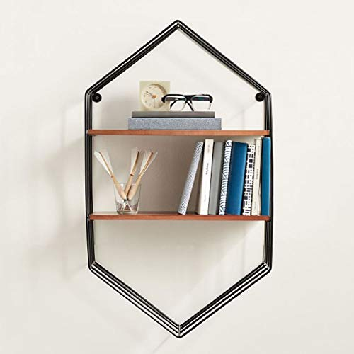EIVD Metal Decorative Frame Creative Diamond Wall Hanging Partition Multifunctional Wood Racks Living Room Cafe Display Rack Environmental Protection Rust Flower Stand
