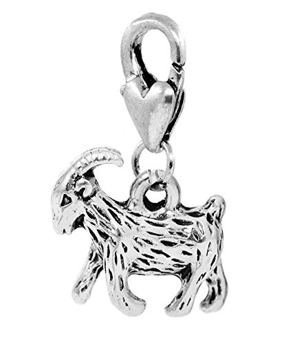 - Billy Goat Baby Ram Farm Animal Sheep Lobster Clip Dangle Charm for Bracelets Crafting Key Chain Bracelet Necklace Jewelry Accessories Pendants