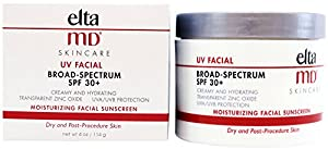 Elta MD Transparent Zinc Oxide Moisturizing Facial Sun Screen - 4 oz Jar - SPF 30+ NEW