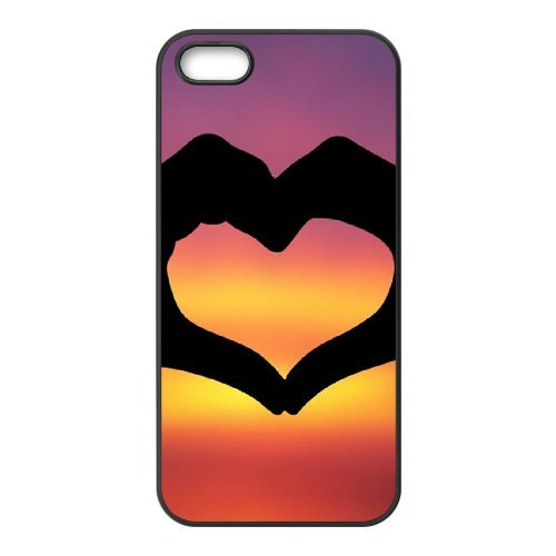 SYYCH Phone case Of Fashion Design Hand Gesture 2 Cover Case For iPhone 5,5S