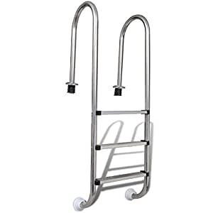 Festnight Stainless Steel In-Pool Ladder 3 Steps