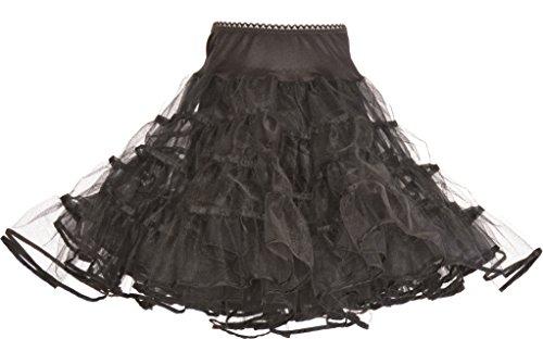 Hip Hop 50s Shop Girls Crinoline Petticoat Slip - Medium Child Black by Hip Hop 50s Shop