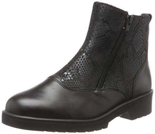 01000 Schwarz g para de Black Stiefel Boots mujer Ganter Ellen px8q4wPz8