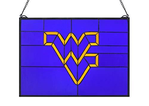 (Yogoart NCAA West Virginia State Stained Glass Window Panel 22