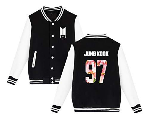 Hommes Baseball Jacket Coat hiver Black3 Et Pour Bangtan Uniforme Boys Automne Court Mode Outerwear Bts Femmes De Besthoo Manteau Unisex qgfn4