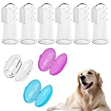 Running Pet 6 Pack Cat Dog Toothbrush Series, Finger Toothbrushes with Case, Handle Toothbrushes for Dogs, Cats, Most Pets